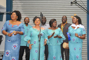 Gospelchor der Presbyterian Church of Ghana.