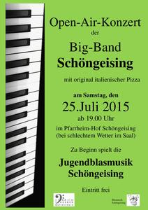Open Air Konzert der Big Band Schöngeising am 25.07.2015
