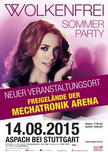 'WOLKENFREI'  SOMMERPARTY - DAS 'OPEN AIR' am  14. 08. 2015