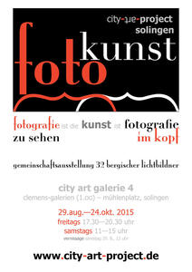 Kunstausstellung vom 'City Art Project' in Solingen.