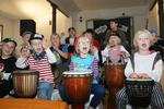Die DRUM-Piraten beim Erntefest in Eckerde am 19.09.2015.