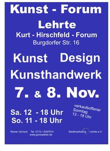 15. Kunst-Forum in 31275 Lehrte,  07. + 08. November 2015