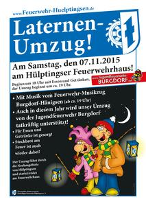 Laternenumzug am 07.11.2015 in Hülptingsen!