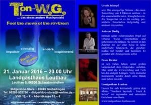 Konzert mit Ton-WeGe .... das etwas andere Musikprojekt  Feel the move of the rythem