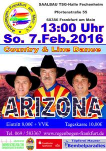 'ARIZONA' COUNTRY und LINEDANCE FASTNACHT