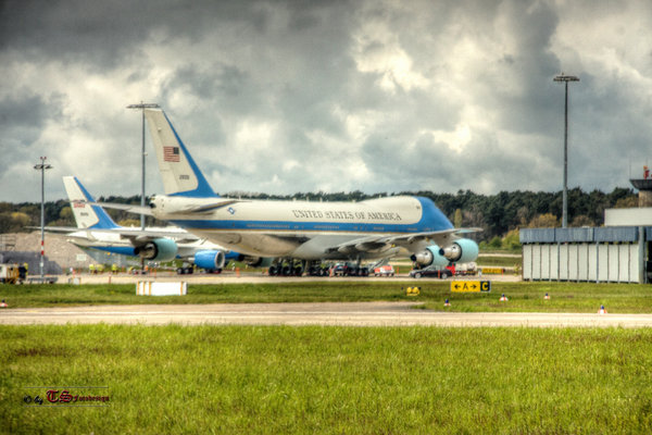 hannover, usa, präsident, airport-hannover, obama, airforce-one