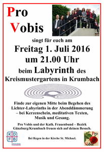 Lichter-Labyrinth in Krumbach am 1. Juli 2016