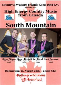 High engery Country Music aus Kanada mit SOUTH MOUNTAIN in Birkenried