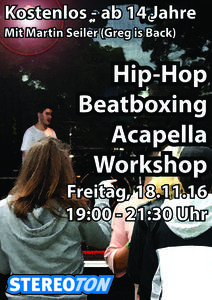 Hip-Hop, Beatbox & Acapella Workshop