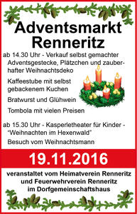 Adventsmarkt 2016 in Renneritz