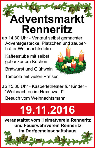 Adventsmarkt mit Kasperletheater in Renneritz