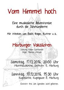 Adventskonzert der Marburger Vokalisten