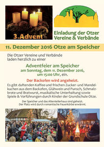 Otzer Adventfeier am 3. Advent