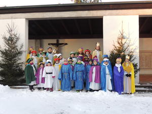 Sternsinger in Ellgau unterwegs