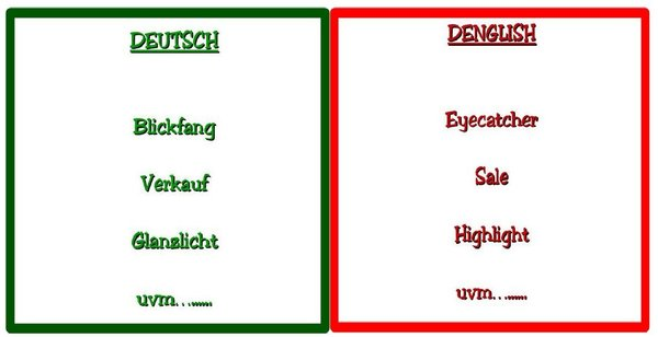 Denglish for Beginners - Deutsch im Wandel