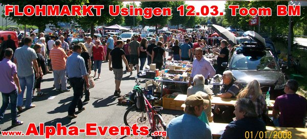 FLOHMARKT in Usingen am Toom BM
