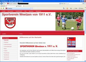 Relaunch der Website des Sportverein Weetzen
