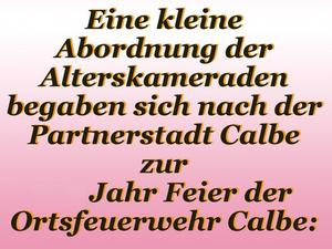 Besuch in Calbe a.d. Saale