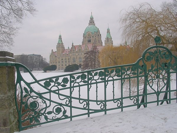 hannover, neues-rathaus, neues-rathaus-hannover, winter-2009