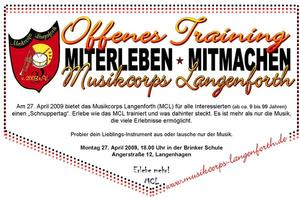 Tag des offenen Trainings beim MCL