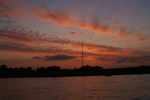 ABENDROT am Sendemast in Wesel
