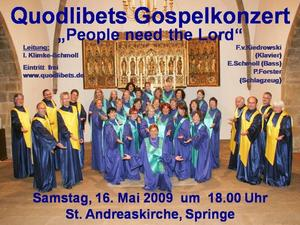 Gospelkonzert der Quodlibets - People need the Lord