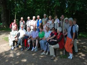 Bordenauer Wandergruppe in den Rehburger Bergen
