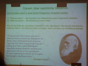 Darwin über natürliche Selektion (The Origin of Species).