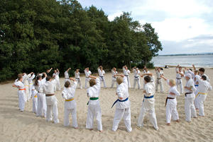 Kyokushinkai Karate - Strandtraining am Steinhuder Meer 2009