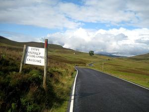 Road to nowhere into the Highlands...