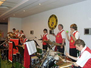 Die Percussiongruppe in Aktion