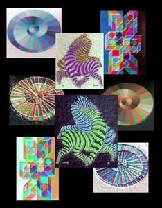 Hommage an VASARELY - a&s - 'Olympiade-Mutationen'. (W.H.)