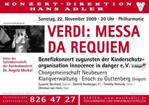 Verdi-Requiem zugunsten von Kinderschutzorganisation Innocence in Danger e.V.