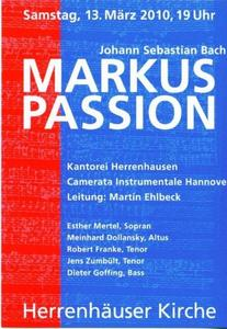 Bach: Markuspassion