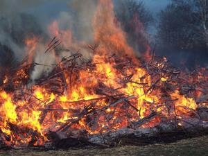 Frohe Ostern !!  - Osterfeuer in Seelze / Letter -