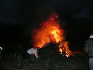 Osterfeuer am Humboldt-See