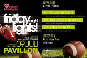 FRIDAY NIGHT LIGHTS im Pavillon FFB