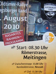 4. Oldtimer-Rallye Augsburg Land / Teil 1: Start in Meitingen