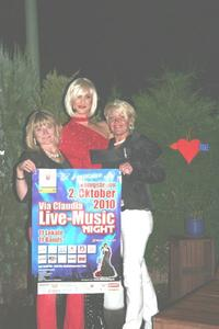 VIA CLAUDIA LIVE-Music Night am 2.Oktober: Live-Entertainment mit Madame Divot