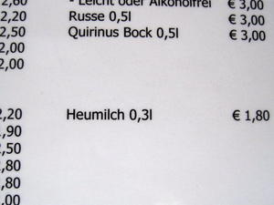 Na dann Prost: Heumilch!
