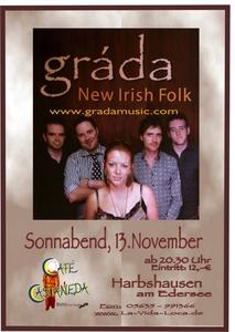 Gráda - New Irish Folk im Café Castaneda