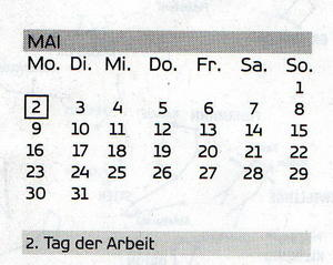 innovativer Kalender ... aus 1 mach 2