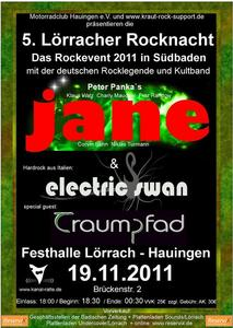 5. Lörracher Rocknacht mit JANE, Traumpfad und Electric Swan