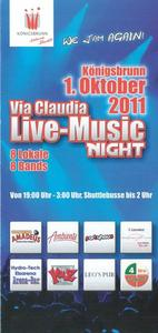 We jam again: Via Claudia Live-Music Night am 1.Oktober!