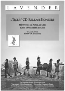 LAVENDER - 'Tiger' CD-Release Konzert im Kino-Traumstern am 11. April, 20 Uhr