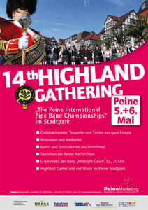 "Radtour zum 14th Highland Gathering und ""The Peine International Pipe Band Championships'"