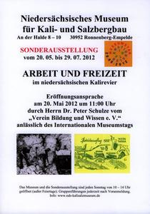 Internationaler Museumstag im Kalisalzmuseum