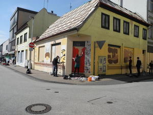 Grafitti und Comics in der City von Oldenburg