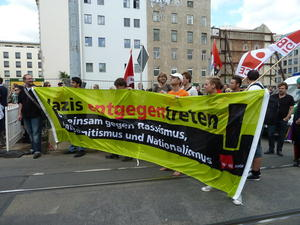 Demonstration in Leipzig.