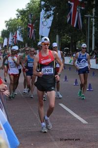 Christopher Linke bei seinem Olympiaeinstand in London (Foto: Gerhard Pohl)
